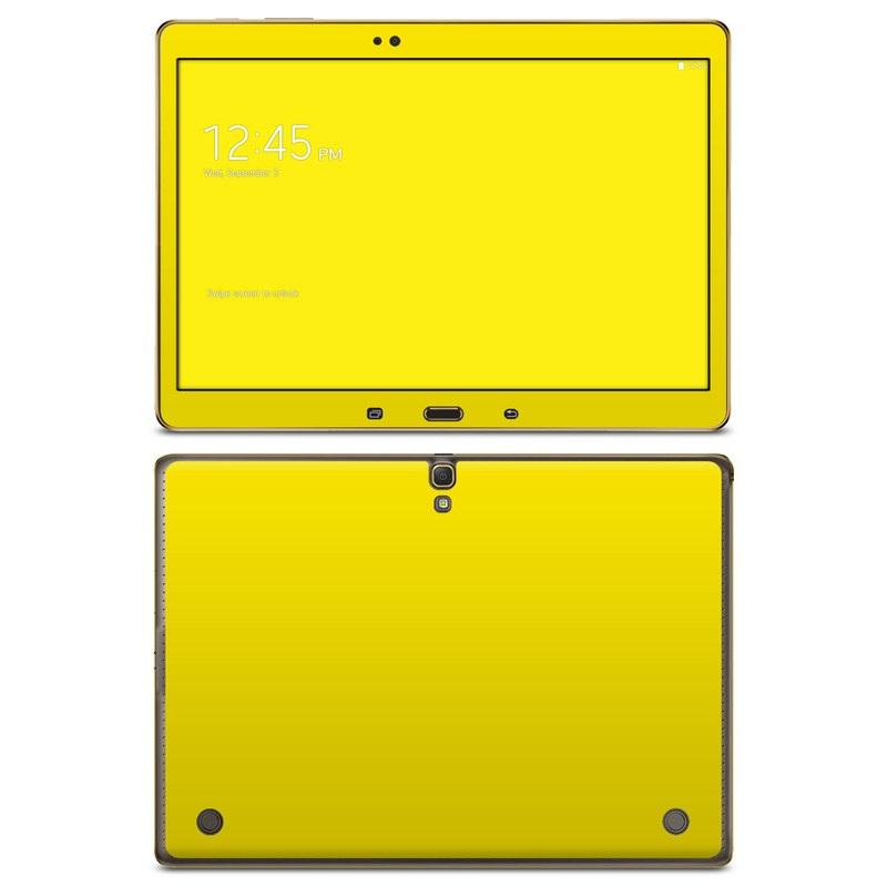 Solid State Yellow Galaxy Tab S 10.5 Skin