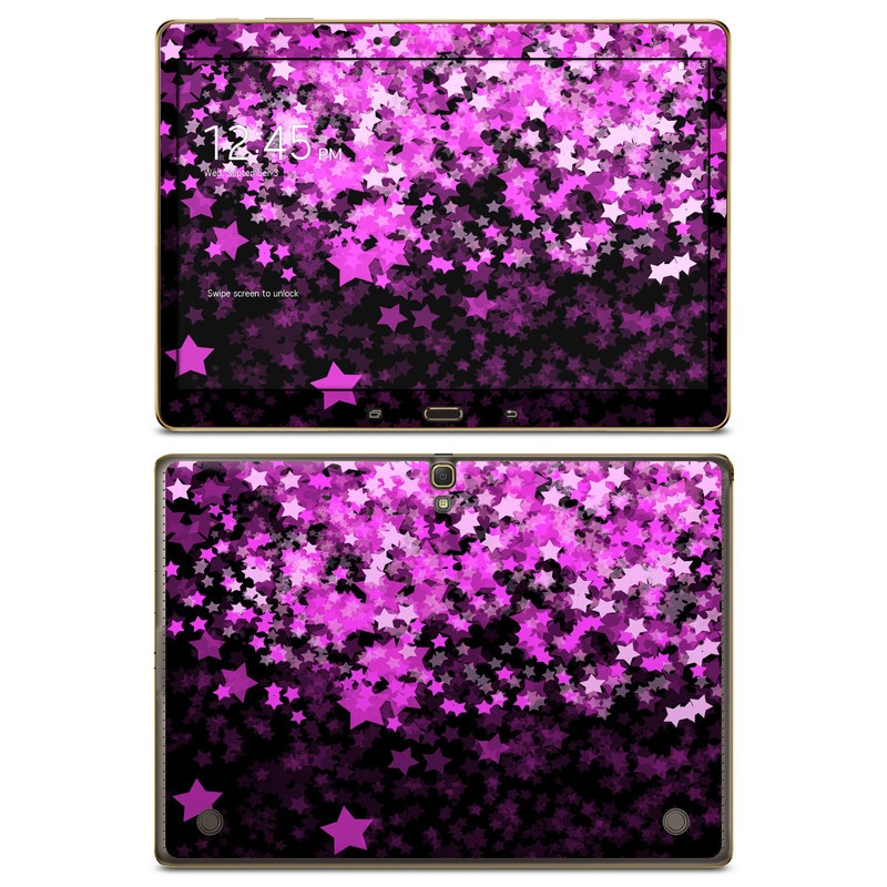 Samsung Galaxy Tab S 10.5 Skin design of Purple, Pink, Violet, Lilac, Magenta, Lavender, Plant, Flower, Sky, Design with black, purple, pink, gray, red colors