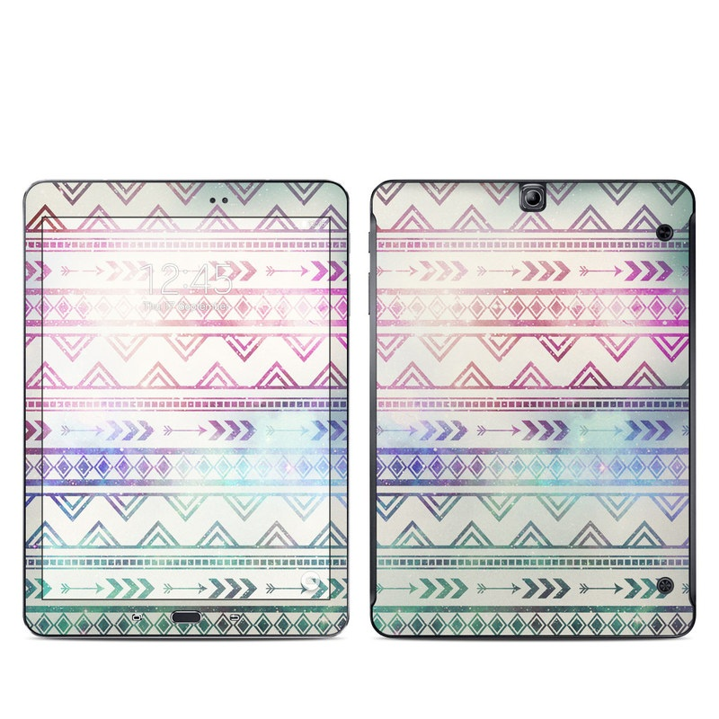 Samsung Galaxy Tab S2 9.7 Skin design of Pattern, Line, Teal, Design, Textile with gray, pink, yellow, blue, black, purple colors