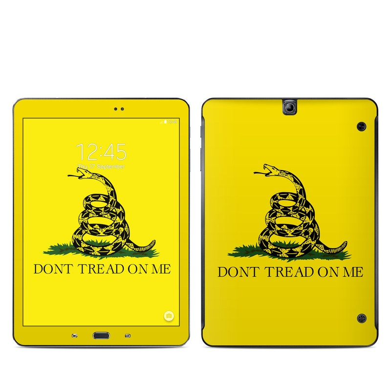 Samsung Galaxy Tab S2 9.7 Skin design of Yellow, Font, Logo, Graphics, Illustration with orange, black, green colors