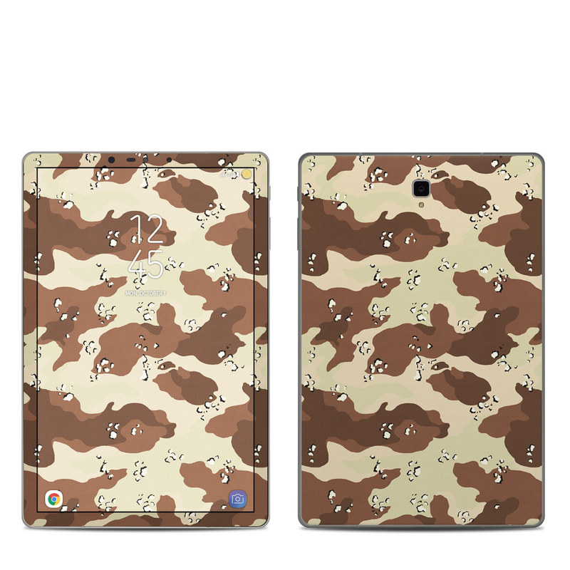 Samsung Galaxy Tab S4 Skin design of Military camouflage, Brown, Pattern, Design, Camouflage, Textile, Beige, Illustration, Uniform, Metal with gray, red, black, green colors