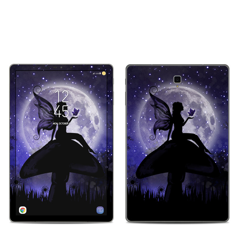 Samsung Galaxy Tab S4 Skin design of Purple, Sky, Moonlight, Cg artwork, Fictional character, Darkness, Night, Illustration, Space, Star with black, blue, gray, purple colors
