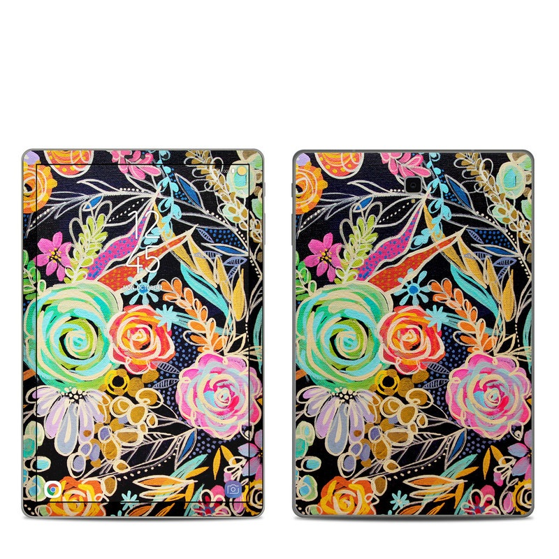 Samsung Galaxy Tab S4 Skin design of Pattern, Floral design, Design, Textile, Visual arts, Art, Graphic design, Psychedelic art, Plant with black, gray, green, red, blue colors