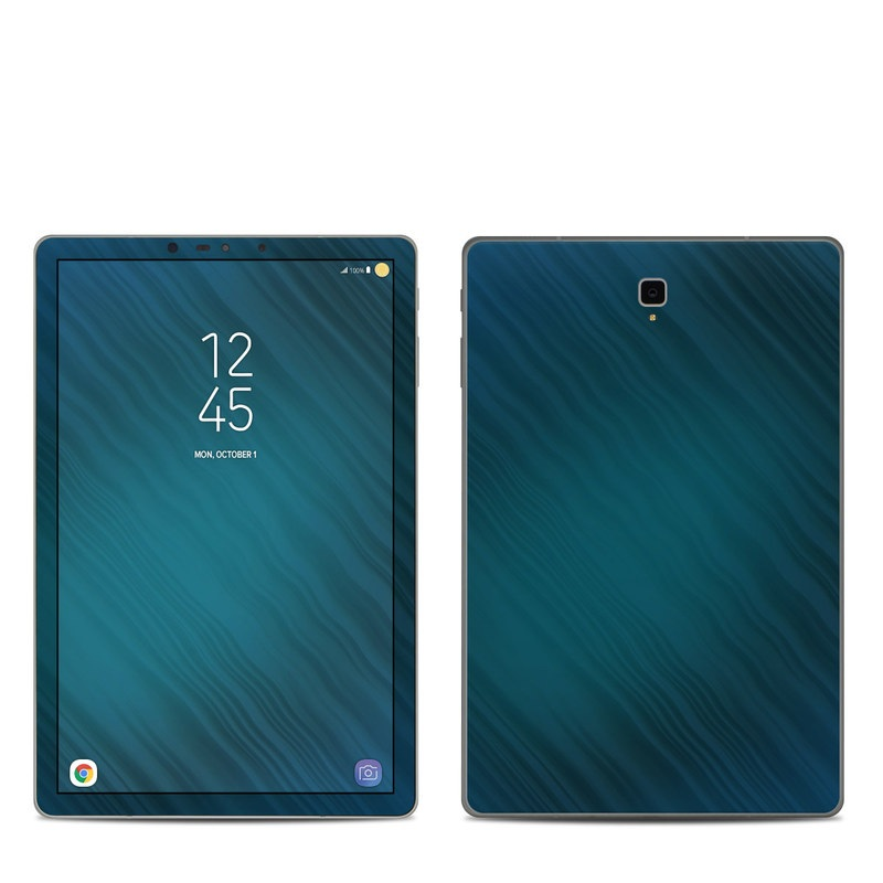 Samsung Galaxy Tab S4 Skin design of Blue, Aqua, Turquoise, Green, Azure, Teal, Electric blue, Pattern, Sky, Atmosphere with black, blue colors
