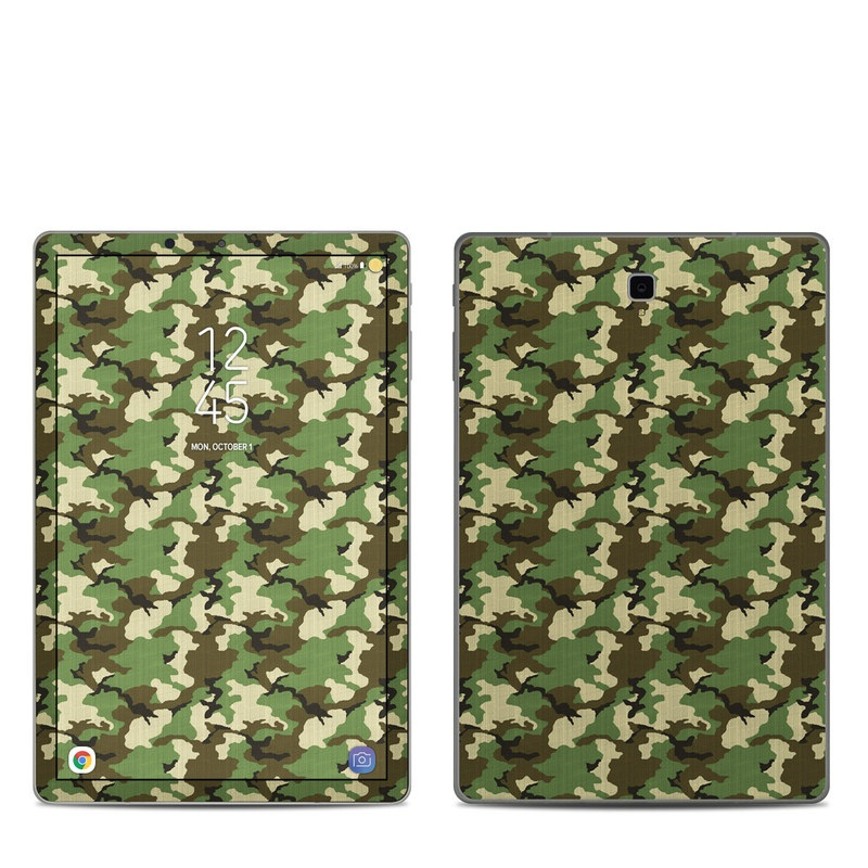 Samsung Galaxy Tab S4 Skin design of Military camouflage, Camouflage, Clothing, Pattern, Green, Uniform, Military uniform, Design, Sportswear, Plane with black, gray, green colors