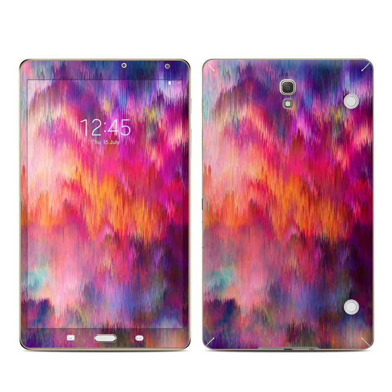 Samsung Galaxy Tab S 8.4 Skin design of Sky, Purple, Pink, Blue, Violet, Painting, Watercolor paint, Lavender, Cloud, Art with red, blue, purple, orange, green colors
