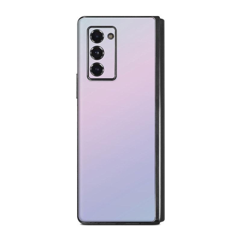 Samsung Galaxy Z Fold2 Skin design of White, Blue, Daytime, Sky, Atmospheric phenomenon, Atmosphere, Calm, Line, Haze, Fog with pink, purple, blue colors