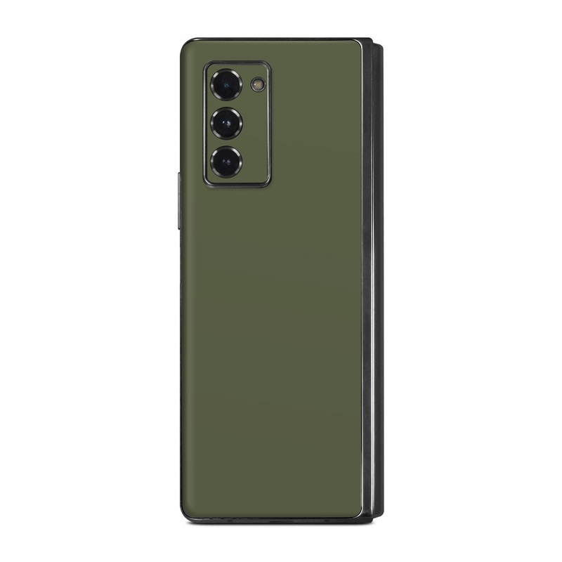 Samsung Galaxy Z Fold2 Skin design of Green, Brown, Text, Yellow, Grass, Font, Pattern, Beige with green colors
