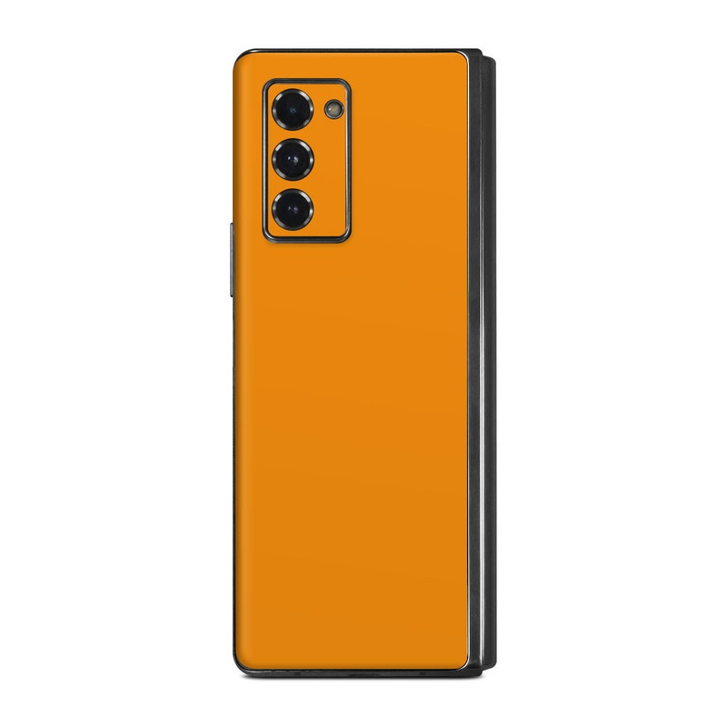 Samsung Galaxy Z Fold2 Skin design of Orange, Yellow, Brown, Text, Amber, Font, Peach with orange colors