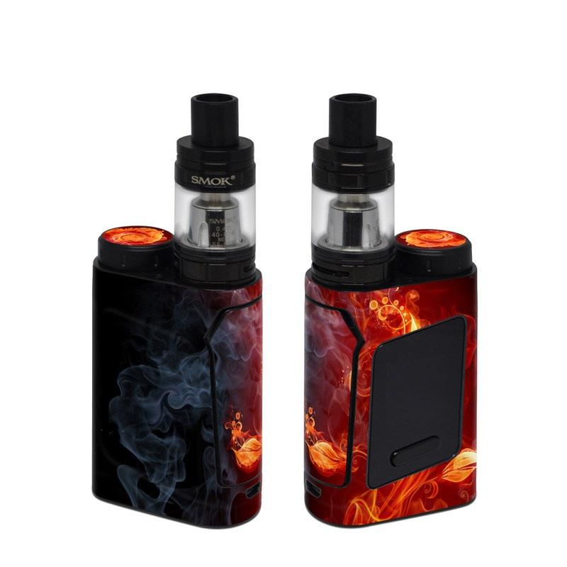 SMOK AL85 Skin design of Flame, Fire, Heat, Red, Orange, Fractal art, Graphic design, Geological phenomenon, Design, Organism with black, red, orange colors