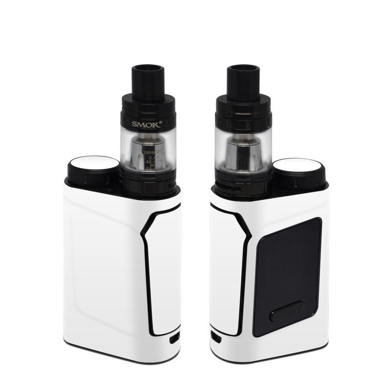 SMOK AL85 Skin design of White, Black, Line with white colors