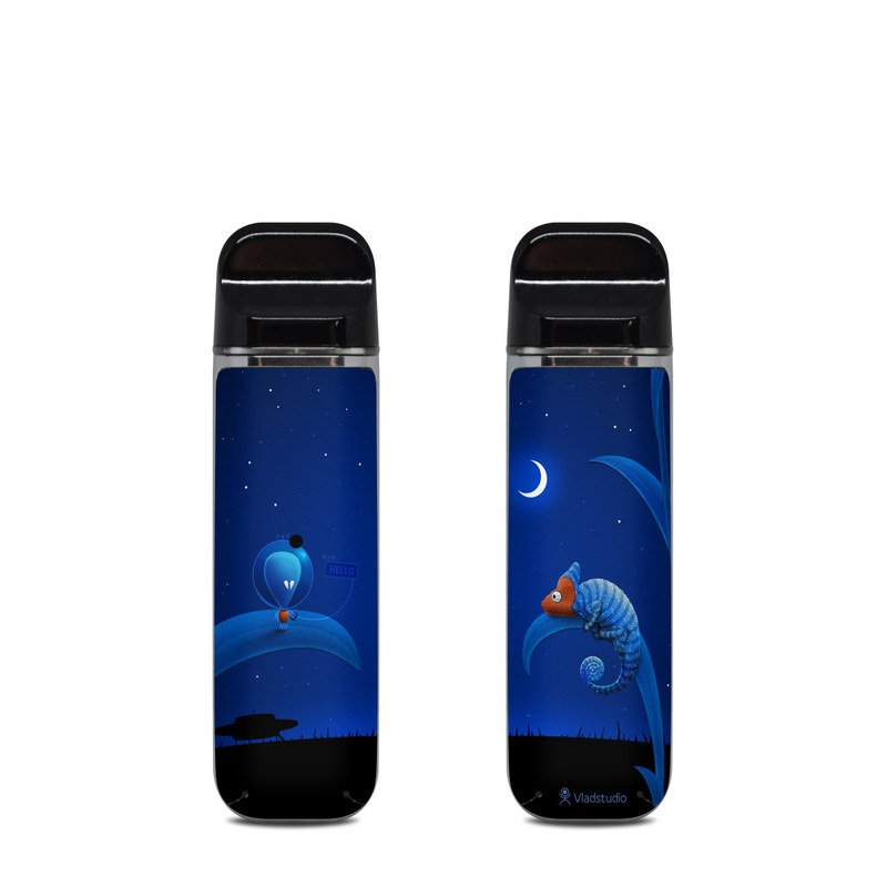 SMOK Novo Skin design of Organism, Astronomical object, Space, Illustration, Night, Graphics with black, blue, orange colors