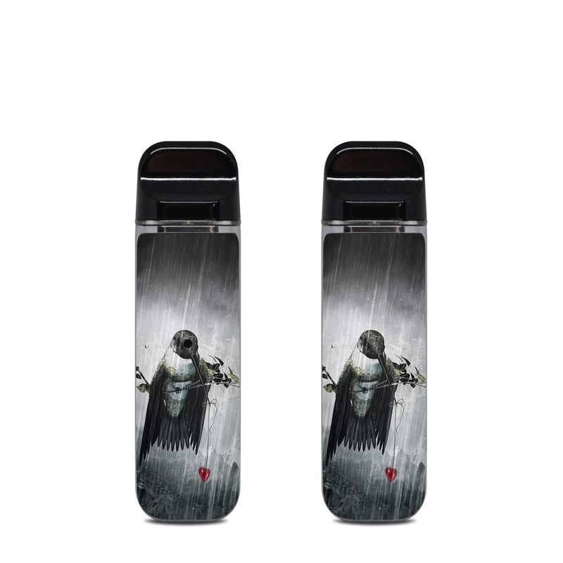 SMOK Novo Skin design of Water, Cg artwork, Graphic design, Fictional character, Darkness, Illustration with black, gray, white, red colors