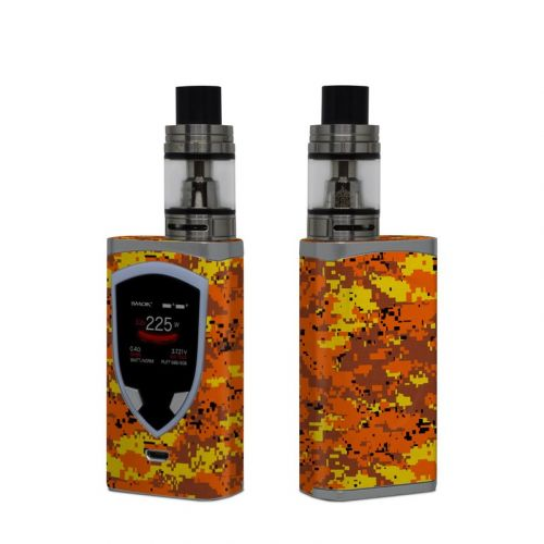 Digital Orange Camo SMOK ProColor Skin