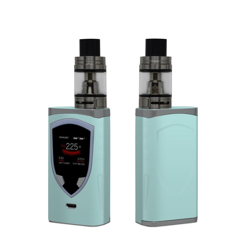 SMOK ProColor Skin design of Green, Blue, Aqua, Turquoise, Teal, Azure, Text, Daytime, Yellow, Sky with blue colors