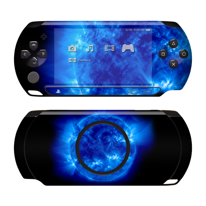 PSP Street Skin design of Blue, Astronomical object, Outer space, Atmosphere, Electric blue, Earth, Planet, Water, Space, Universe with blue, black colors