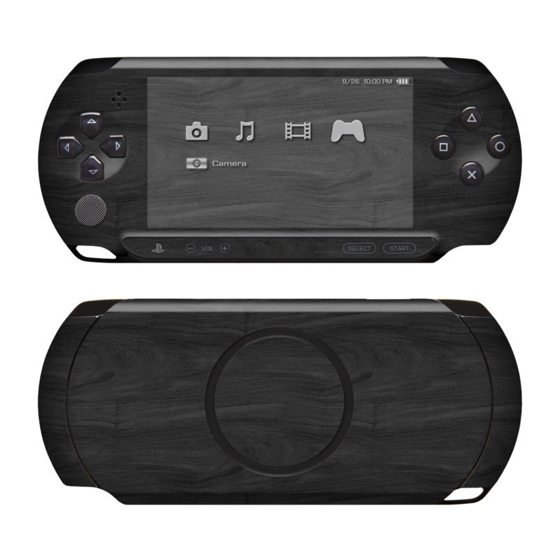 Black Woodgrain PSP Street Skin