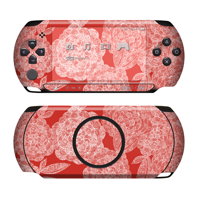 Red Dahlias PSP Street Skin
