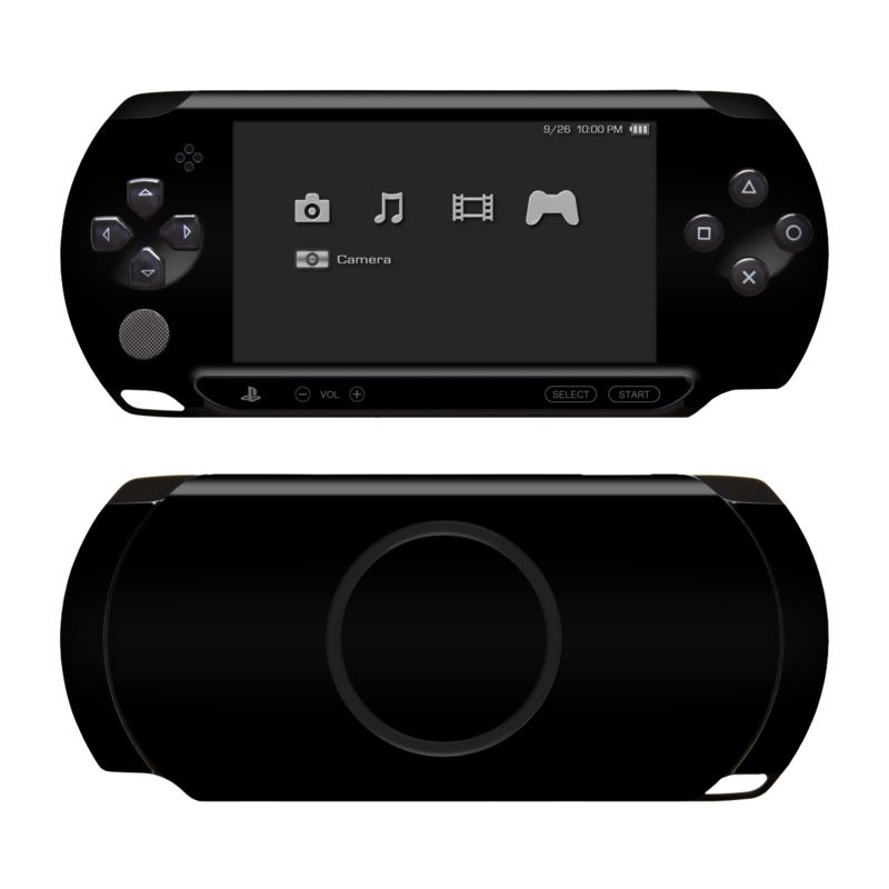 PSP Street Skin design of Black, Darkness, White, Sky, Light, Red, Text, Brown, Font, Atmosphere with black colors