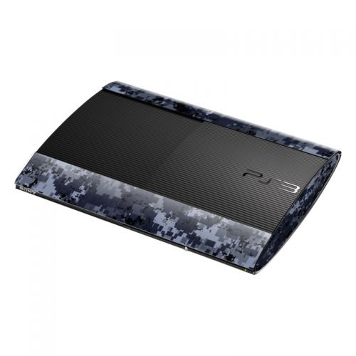 Digital Navy Camo PlayStation 3 Super Slim Skin