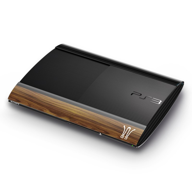 Wooden Gaming System PlayStation 3 Super Slim Skin