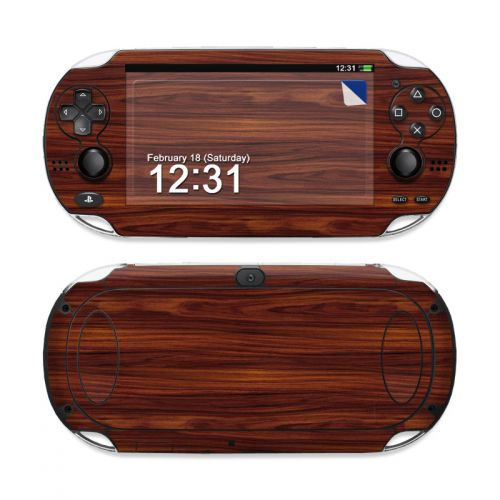Dark Rosewood PS Vita Skin
