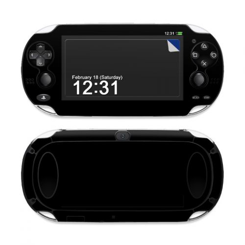 Solid State Black Sony PS Vita Skin