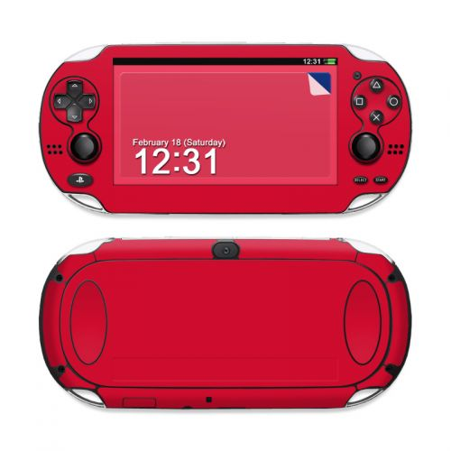 Solid State Red Sony PS Vita Skin