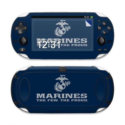 USMC Blue Sony PS Vita Skin