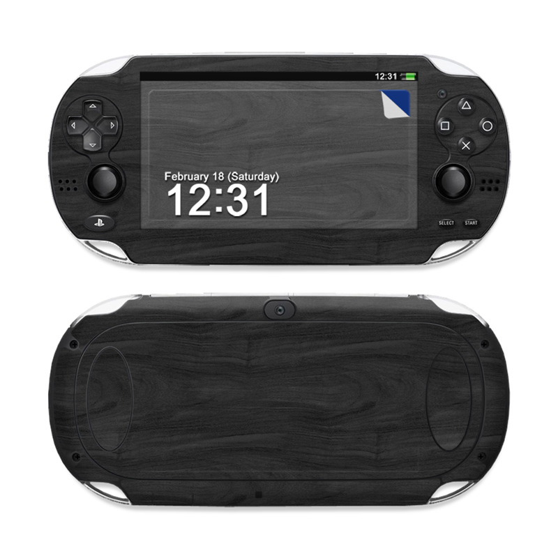 Black Woodgrain PS Vita Skin