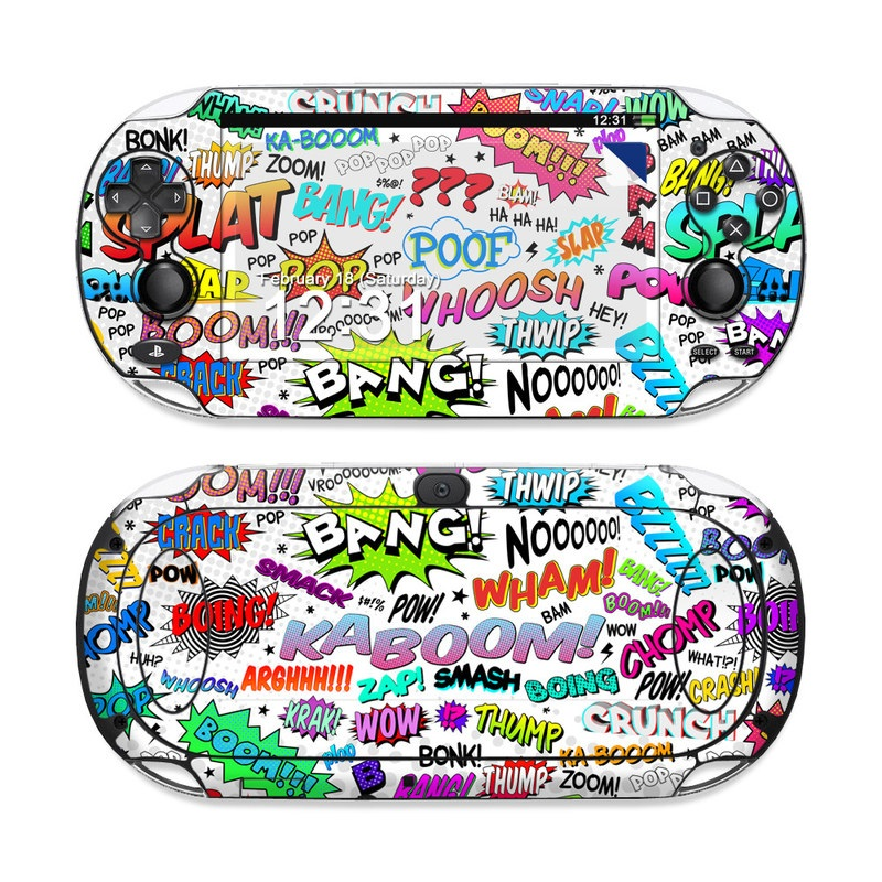 PlayStation Vita Skin design of Text, Font, Line, Graphics, Art, Graphic design with gray, white, red, blue, black colors
