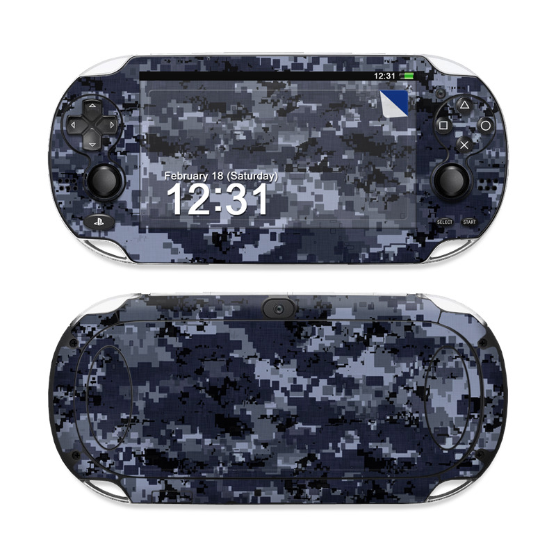 Digital Navy Camo Sony PS Vita Skin