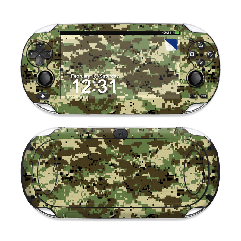 Digital Woodland Camo PS Vita Skin