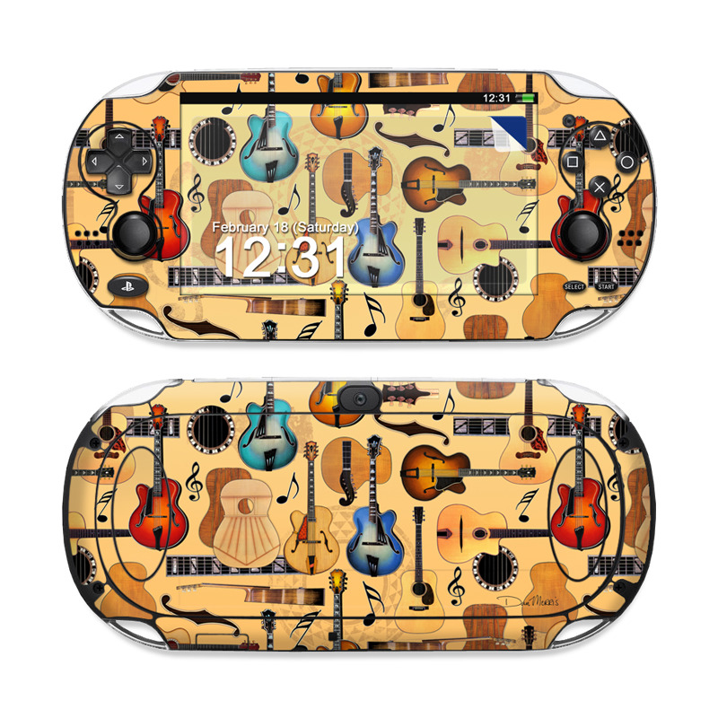 Guitar Collage PS Vita Skin