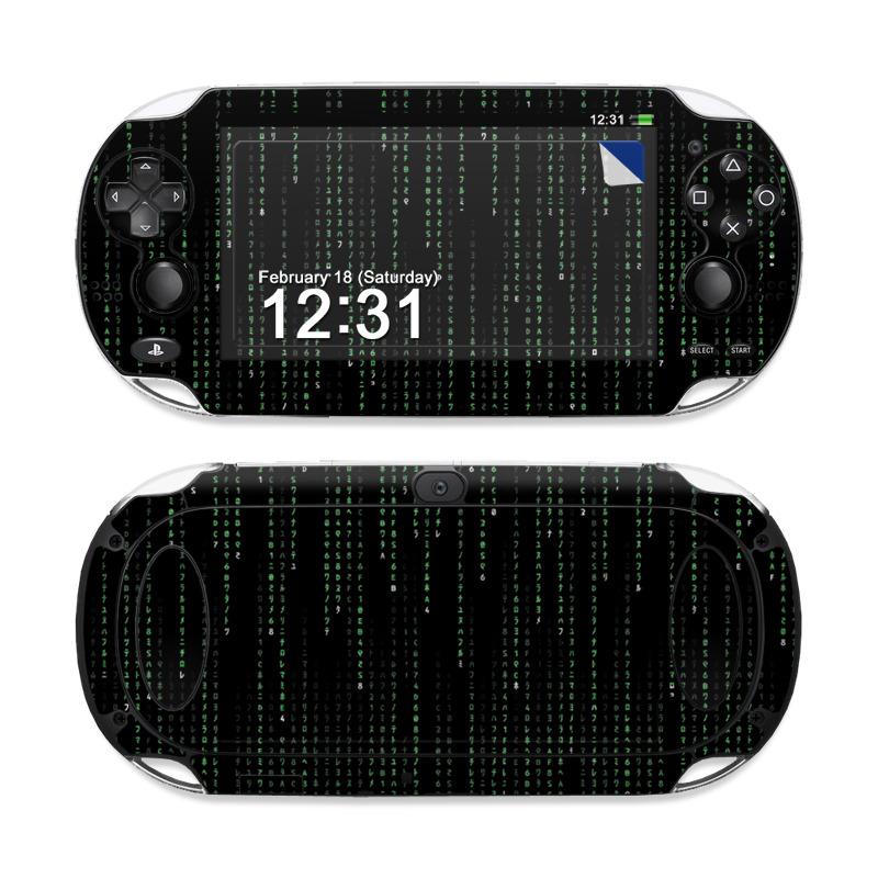 Matrix Style Code Sony PS Vita Skin