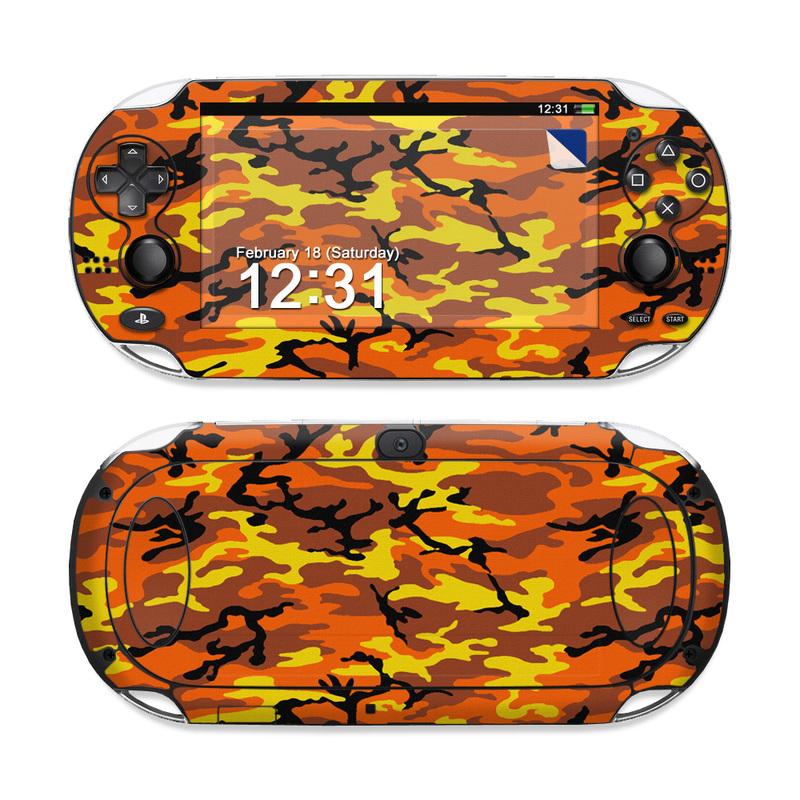 Orange Camo PS Vita Skin