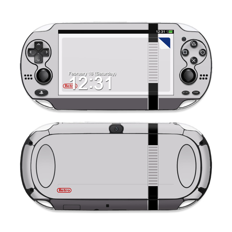 PlayStation Vita Skin design of Text, Font, Red, Product, Logo, Brand, Material property, Graphics, Rectangle with gray, black, red colors
