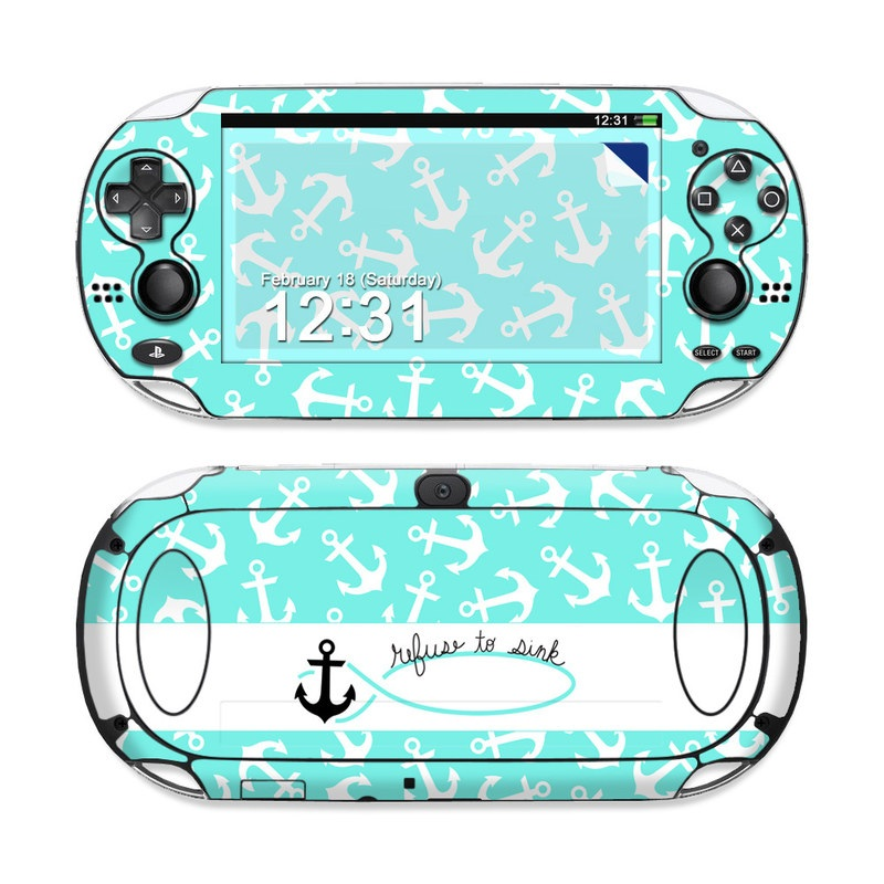 PlayStation Vita Skin design of Text, Turquoise, Aqua, Font, Teal, Pattern, Line, Design, Illustration with gray, white, blue, green colors