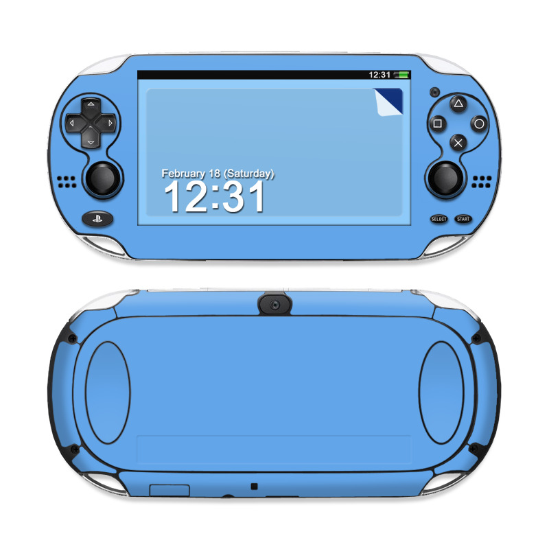 Solid State Blue Sony PS Vita Skin