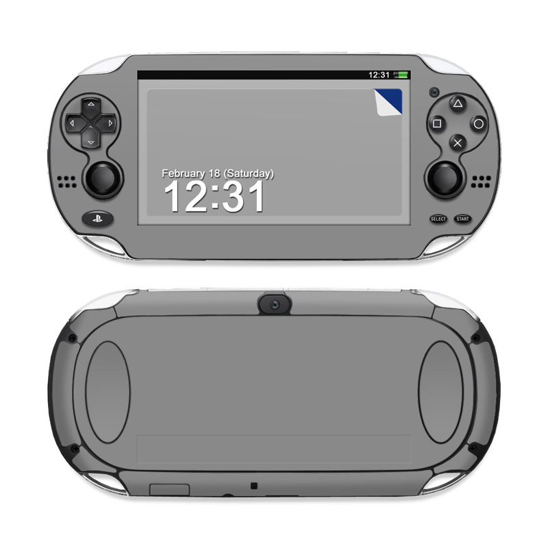 Solid State Grey Sony PS Vita Skin