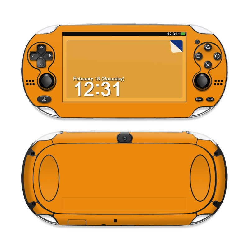 Solid State Orange Sony PS Vita Skin