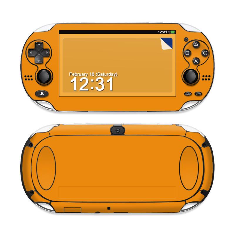 Solid State Orange Sony PS Vita Skin