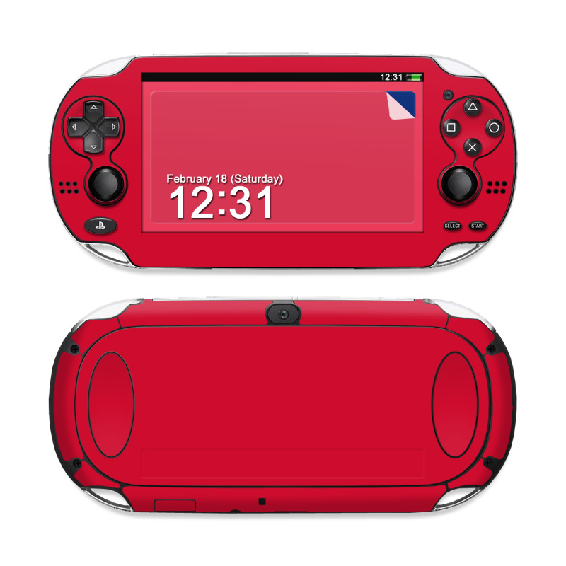 Solid State Red PS Vita Skin