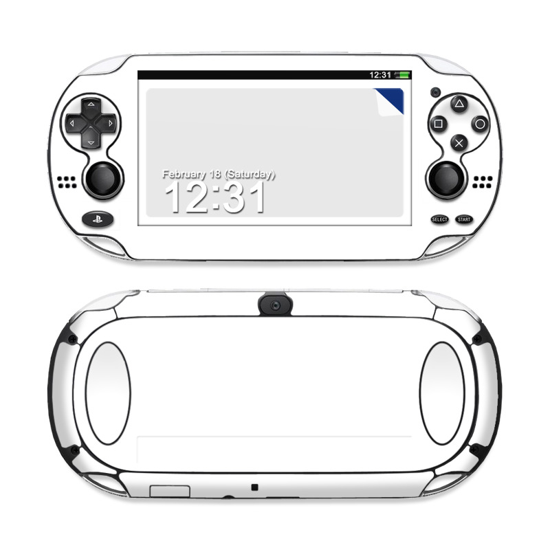 PlayStation Vita Skin design of White, Black, Line with white colors
