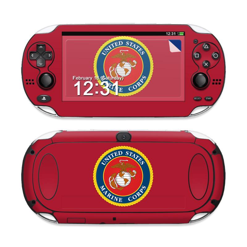 USMC Red Sony PS Vita Skin