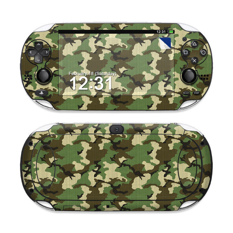 PlayStation Vita Skin design of Military camouflage, Camouflage, Clothing, Pattern, Green, Uniform, Military uniform, Design, Sportswear, Plane with black, gray, green colors