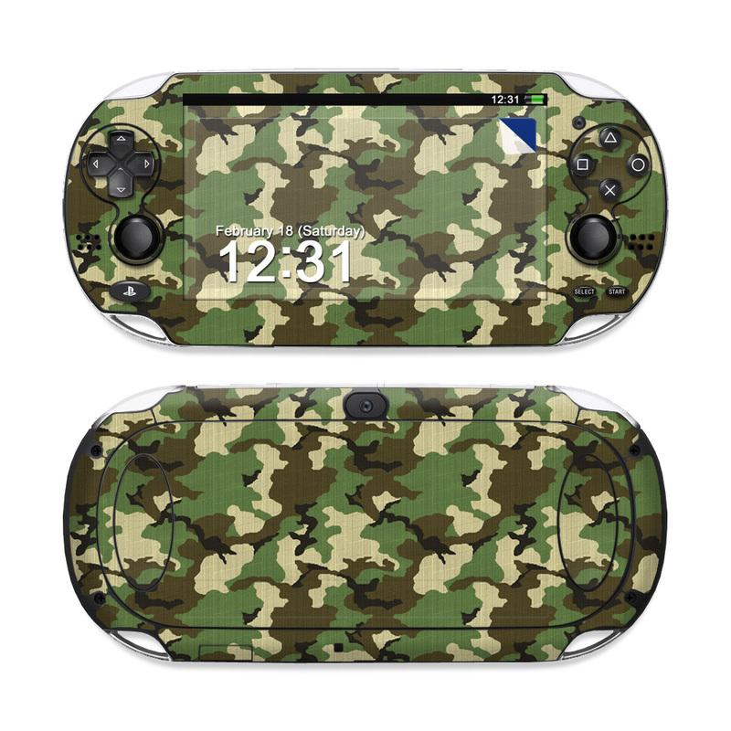 Woodland Camo Sony PS Vita Skin