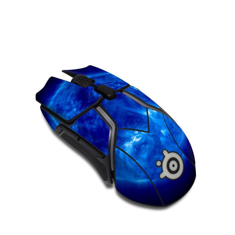 SteelSeries Rival 600 Gaming Mouse Skin design of Blue, Astronomical object, Outer space, Atmosphere, Electric blue, Earth, Planet, Water, Space, Universe with blue, black colors
