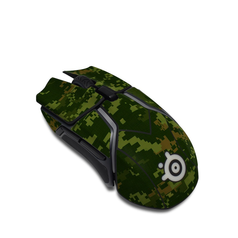 SteelSeries Rival 600 Gaming Mouse Skin design of Military camouflage, Green, Pattern, Uniform, Camouflage, Clothing, Design, Leaf, Plant with green, brown colors