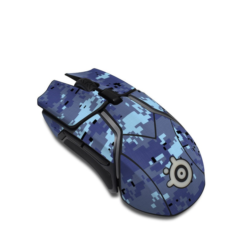 SteelSeries Rival 600 Gaming Mouse Skin design of Blue, Purple, Pattern, Lavender, Violet, Design with blue, gray, black colors